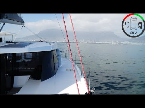 #4 Looking at Knysna 500 Catamaran and Lagoon 39 at Cape Town South Africa boat show Sailing Sisu
