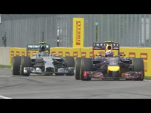 MY EPIC 2014 F1 CANADA GP BATTLE WITH LEWIS AND RICCIARDO |
