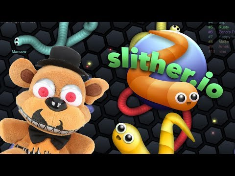 Gameplays - Nightmare Freddy Plays slither.io!!!!