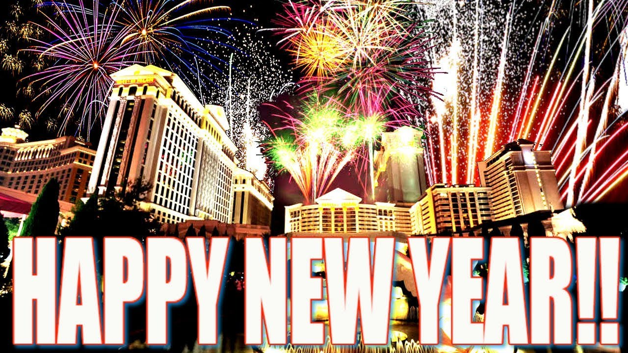 las vegas fireworks 2018 happy new year