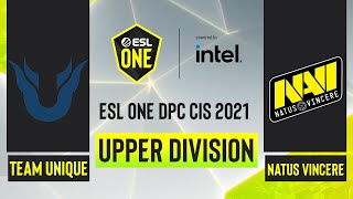 Dota2 - Team Unique vs. Natus Vincere - Game 1 - ESL One DPC CIS - Upper Division