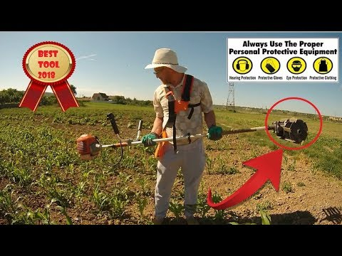 NEW!!! - BrushCutter with Cultivator roller Weeder- FULL REVIEW AND TEST!!! Prasitoare motocoasa!
