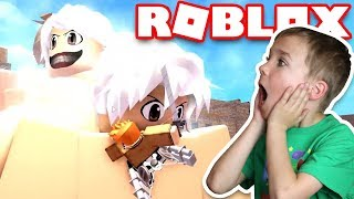 FIGHTING ANGRY GIANT TITANS in ROBLOX