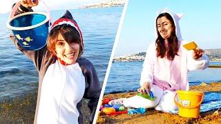 Прикольные видео игры на Пляже - Милая Пони Единорожка и Акула поссорились! – Весёлые игры одевалки
