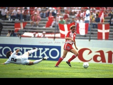 Preben Elkjær vs Uruguay. 1986 World Cup. All touches & actions