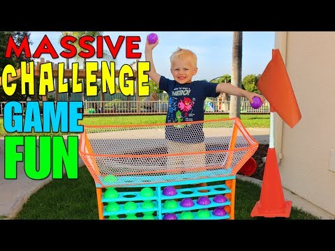 Kid Size Obstacle Course Challenge!! - 동영상