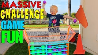 Kid Size Obstacle Course Challenge!!