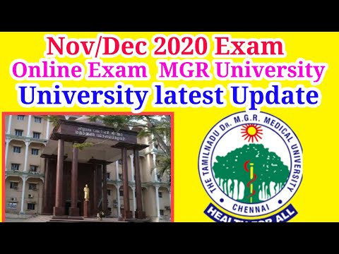 MGR University November December Theory Examination OnlineMode This News Real or Fake latest Update