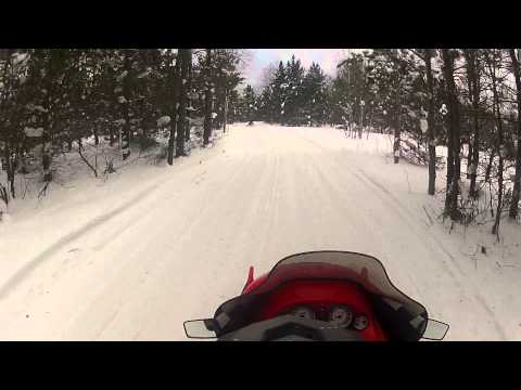Snowmobiling in Gaylord Mi