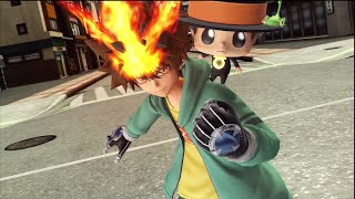 Repeat youtube video Katekyo Hitman Reborn Tsunayoshi Sawada J Stars Victory VS PS3 Moveset and Skills