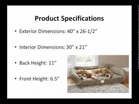 Orvis Lounger Deep Dish Dog Bed - YouTube