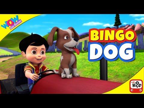 BINGO DOG SONG with Vir: The Robot Boy - Cartoon Animation Nursery Rhymes Songs by WowKidz Rhymes