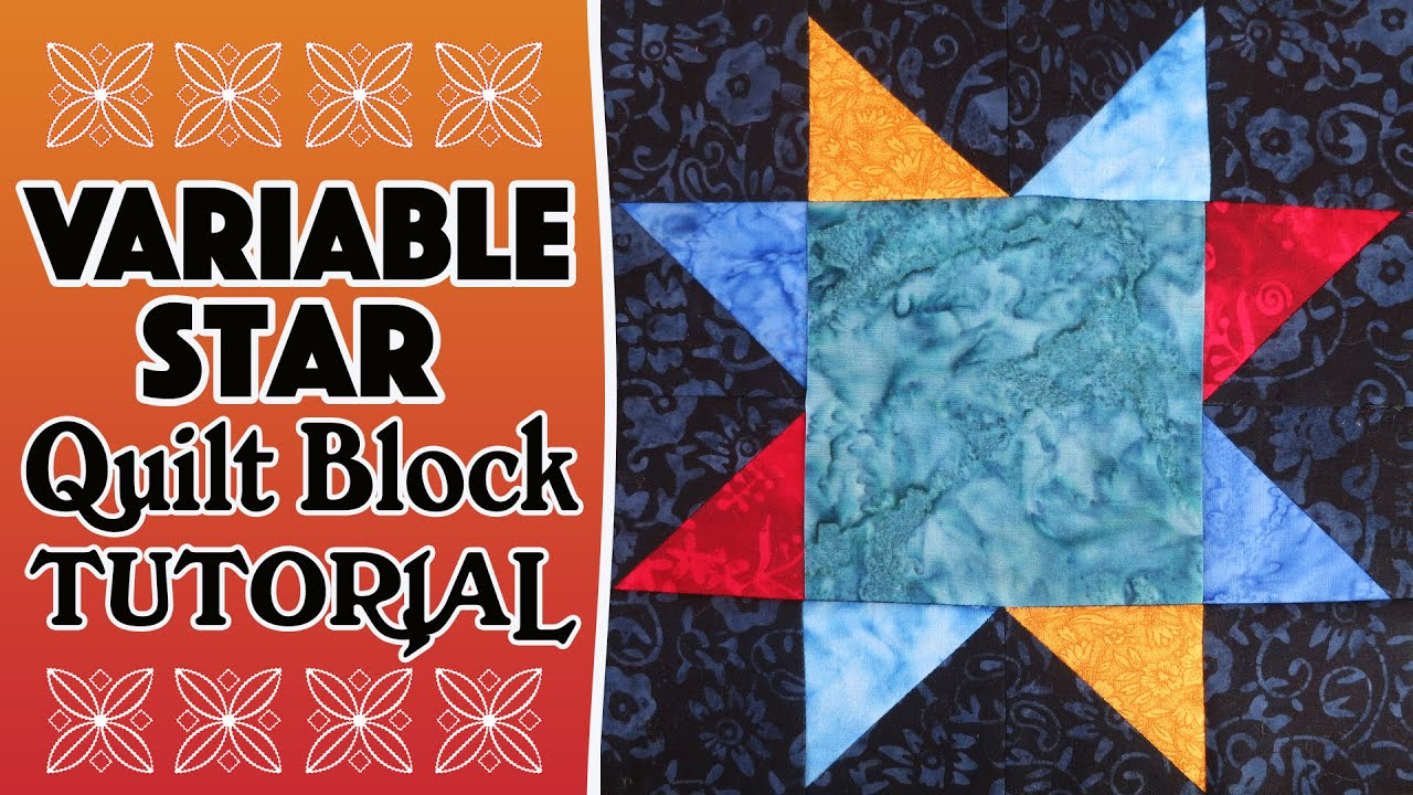 Quilting Blocks: Variable Star Quilt Block Tutorial (using half ... : star block quilt pattern - Adamdwight.com