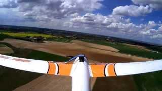vuelo en valdeganga sonic 185 glider rc