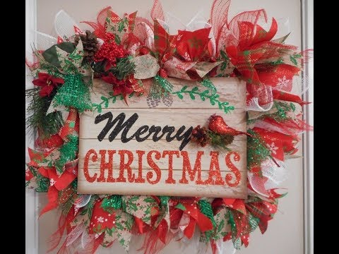 Dollar Tree Diy Christmas Picture Frame Wreath 1000 Subscriber Give