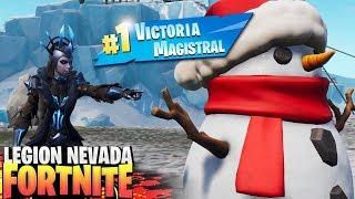 CONSIGO LA VICTORIA MAS *EPICA* con EL MUÑECO DE NIEVE | FORTNITE: Battle Royale