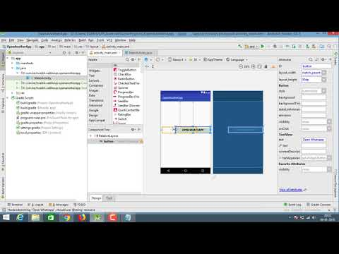 how to open another app from our app in android studio