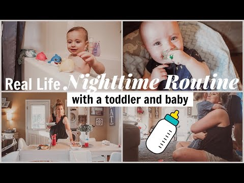 REAL LIFE NIGHTTIME ROUTINE WITH A TODDLER & BABY! | VLOG STYLE