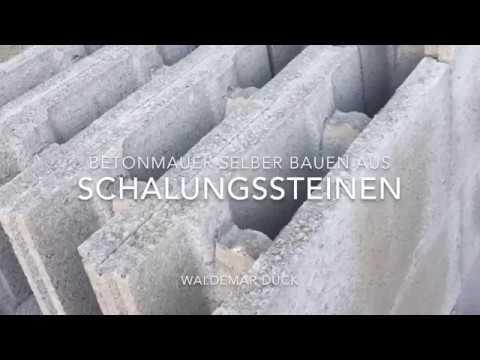 Betonmauer selber bauen Betonzaun Sichtschutz - concrete fence ...