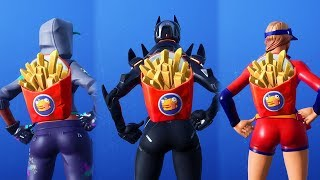 FORTNITE'S DELIVERY SERVICE TEAM! DEEP FRIED BACKPACK/BACK BLING SHOWCASE with 70+ WORKERS!