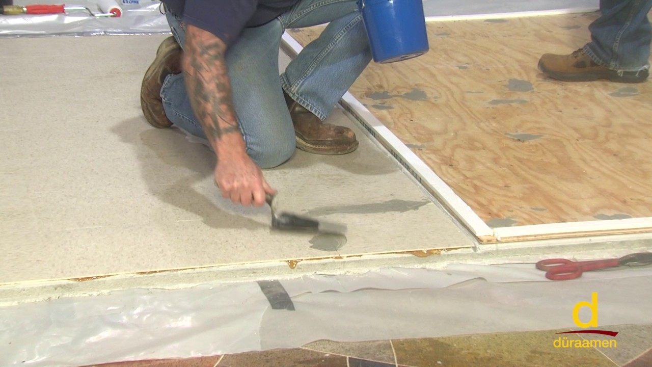 Vinyl Tile With Concrete Topping