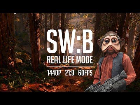 STAR WARS: Battlefront - Очень злые боты, очень красивая картинка (Real Life Mode, 1440p, 21:9)