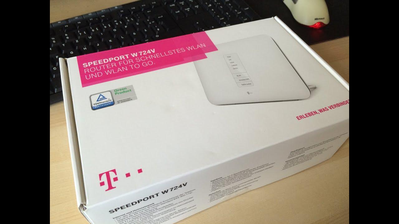 Unboxing Telekom Speedport W 724v Typ C Dsl Router Youtube
