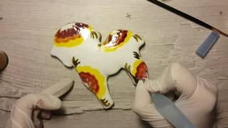 Роспись пряника лошадка. Decorating (handpainting) horse cookie a la russe