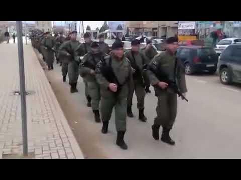 Kosovo Army  Albanian Soldiers UCK Song Near Serbian Border