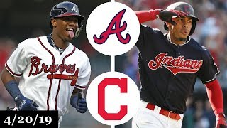 """-- braves vs indians highlights - april 20, 2019 --use promo code """"truergm"""" on seatgeek for $20 off your first purchase: https://sg.app.link/teamseatgeek---..."""