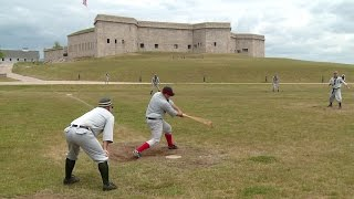 A friendly game of baseball, 1861 style Video