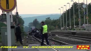 Schwerer Bahnunfall Monzingen 5 junge Menschen sterben    Kreuznach112 de
