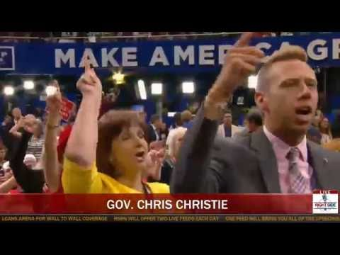 'LOCK HER UP!' RNC Crowd ERUPTS as Chris Christie Destroys Crooked Hillary Clinton