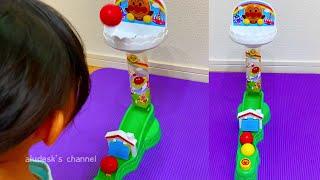 子供がやみつきになるおもちゃ!アンパンマン コロコロおしゃべり玉入れ