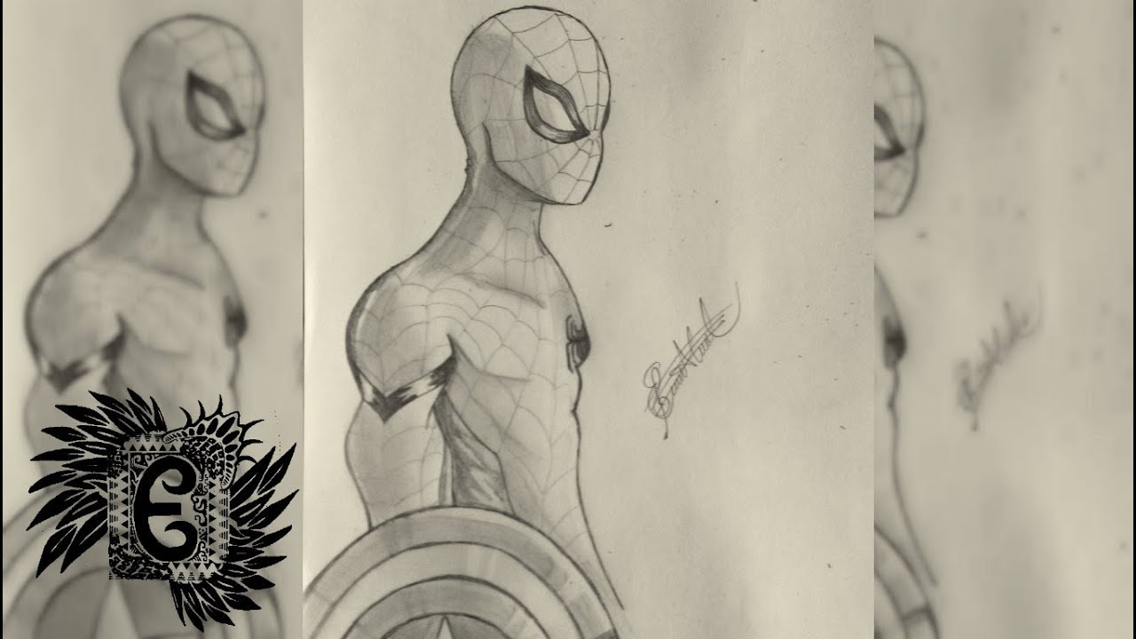 Spiderman Dibujo A Lápiz Capitán América Civil Warerx Youtube