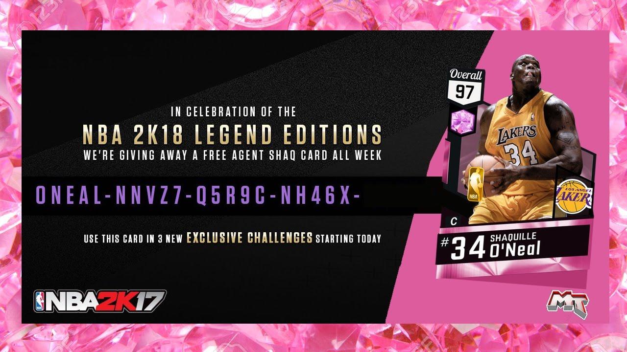 Pink Diamond Locker Codes Twitter - Nba 2k17 free pink diamond shaq locker code nba2k17