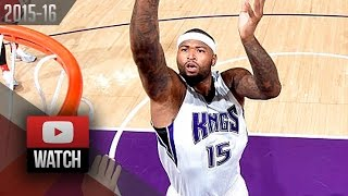 DeMarcus Cousins Full Highlights vs Raptors (2015.11.15) - 36 Pts, 10 Reb, 3 Blk