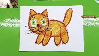 Как нарисовать КОШКУ с ребенком от 2 лет