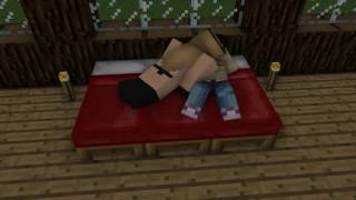 Minecraft Animation Kissing Scene