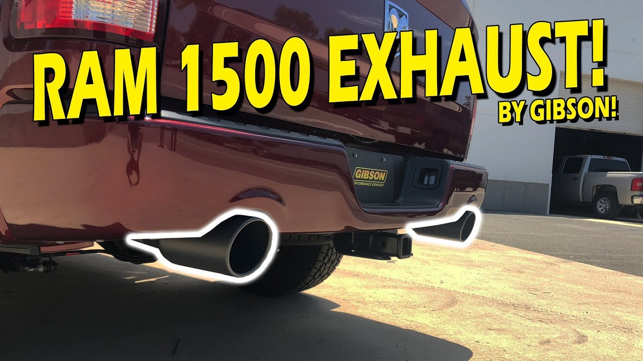 ram 1500 5 7l hemi gibson performance exhaust 66565b