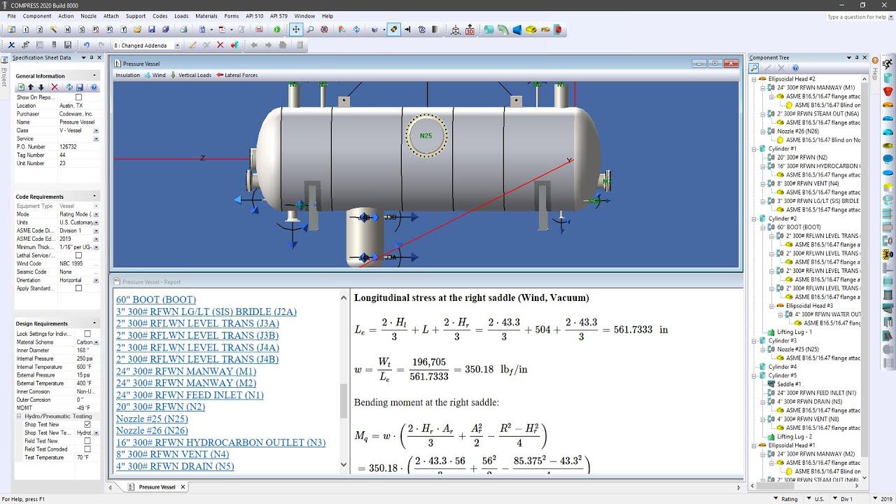 Compress Pressure Vessel Design Software Codeware