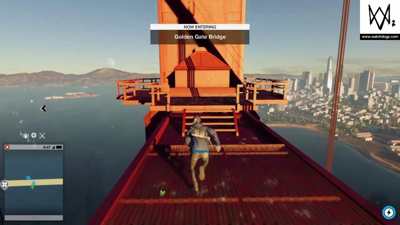 Climbing Golden Gate Bridge Watch Dogs 2 Youtube