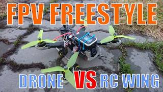 FPV Drone  VS RC Wing. Freestyle. thumbnail