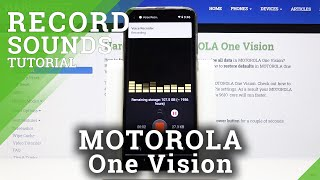 How to Record Sounds in Motorola One Vision - Voice Recorder