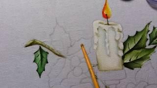 Arranjo de Natal – Pintura em tecido