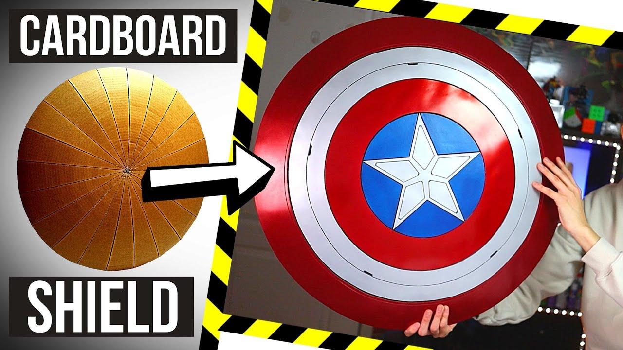 DIY Captain America MAGNETIC Shield! *Cardboard*