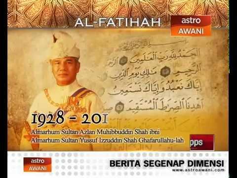 Al -Fatihah, Almarhum Sultan Azlan Shah