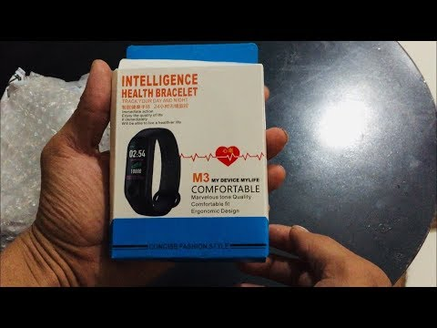 M3 FITNESS BAND FULL REVIEW | UN BOXING | FEATURES |
