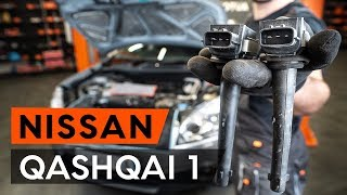 How to change ignition coil on NISSAN QASHQAI 1 (J10) [TUTORIAL AUTODOC]