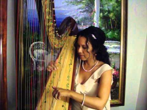 Wedding Harpist Sonia Marie Olivas Playing Canon In D